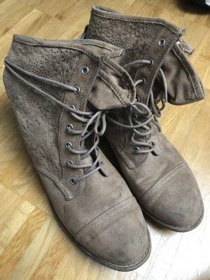 Graceland Stivale stringato marrone-grigio