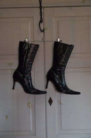 Botas góticas negro Cuero