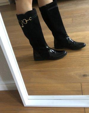 Alpe Botte d'équitation noir cuir