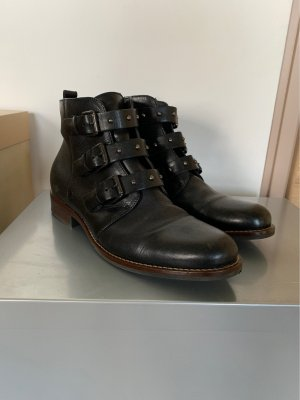 Pat Calvin Short Boots black-silver-colored