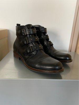 Pat Calvin Korte laarzen zwart-zilver