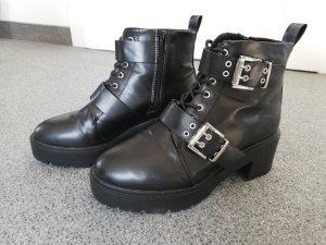 Asos Bottes à lacets noir