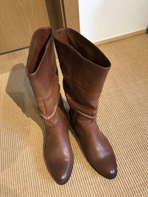 Heel Boots cognac-coloured