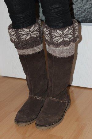 Botas estilo vaquero marrón-negro-beige