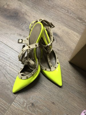 Stiefel neon gelb sandals 38 high heels