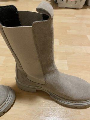 Shoe Biz Copenhagen Winterlaarzen zilver Leer