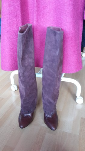 Cute Couture High Heel Boots brown violet