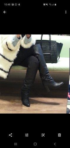 H&M Buty nad kolano czarny