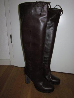 premiere femme Platform Boots dark brown leather
