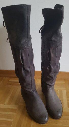 Stiefel Overknees Gr. 38 in grau