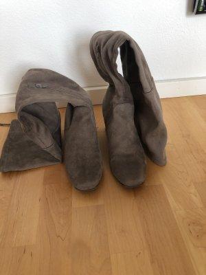 Stiefel Overknees Größe 40 Taupe