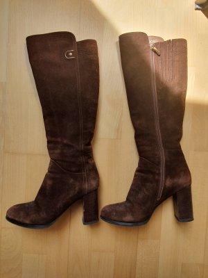 Laarzen met hak bruin
