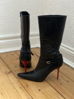 Roberto Cavalli High Heel Boots black-dark red