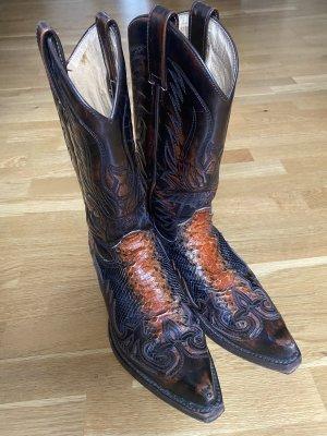Sendra Western Boots black brown-cognac-coloured