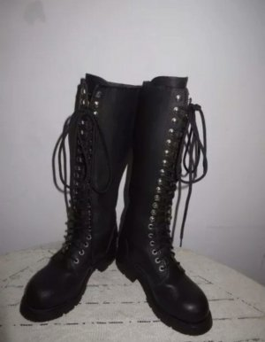 Buffalo Lace-up Boots black-silver-colored