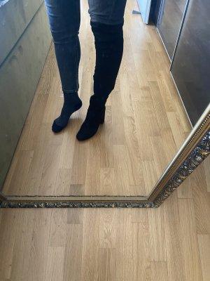 Stiefel Schuhe 39 schwarz Overknees