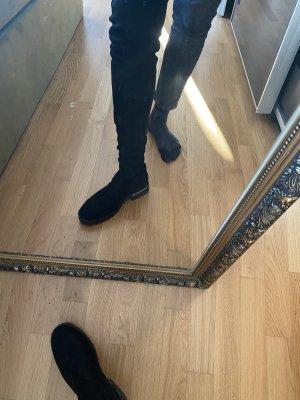 Stiefel Schuhe 40 schwarz Overknees