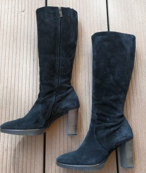 Stiefel Schuhe Leder Paul Green 40 schwarz Damen