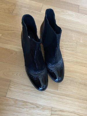 Stiefel Schuhe Stiefelette schwarz 41 Leder