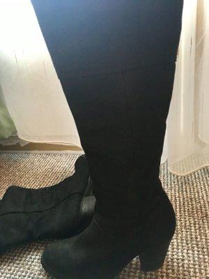 Stiefel   schwarz   Echt leder