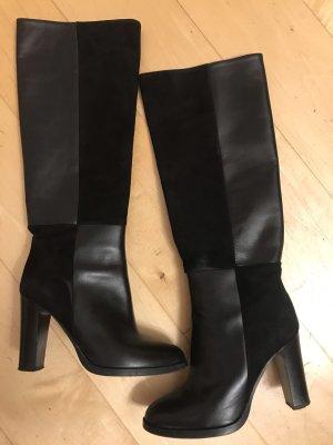 Stiefel schwarz Leder