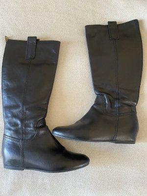 Stiefel schwarz Leder gr. 39