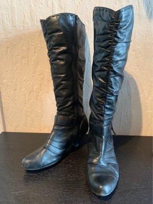 Stiefel schwarz mit kleinem Absatz