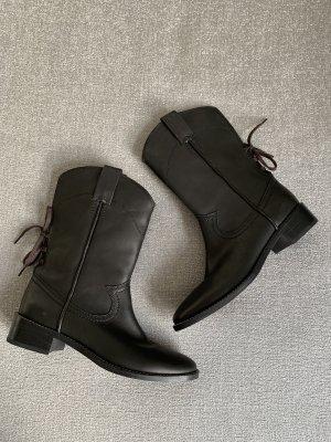 See by Chloé Botte courte noir cuir