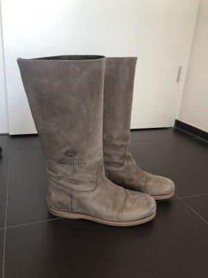 Shabbies amsterdam Botas estilo militar marrón grisáceo