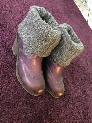 Stiefel / Stiefeletten - original NOBRAND - Leder, lila/grau, 40