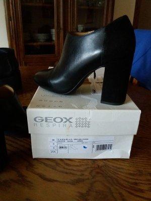 Stiefel Stiefletten von Geox Gr.38 Leder Schwarz