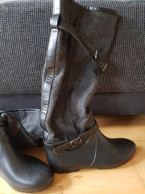 SDS Botte en caoutchouc noir-gris