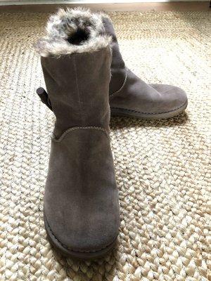 Tamaris Futrzane buty jasnobrązowy-szaro-brązowy