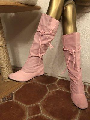 Bottes plissées rose