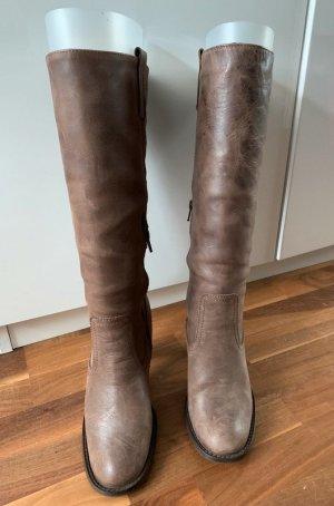 Stiefel - used/antique Look - braun, Gr. 40