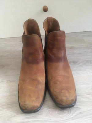 Krótkie buty brązowy-jasnobrązowy