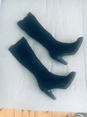Stiefel, Veloursleder, schwarz, Gr 5,5, Peter Kaiser, Premium, Luxus, Stretch, schlanker Schaft