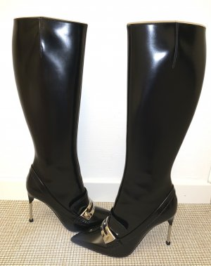 Alexander McQueen High Heel Boots black leather