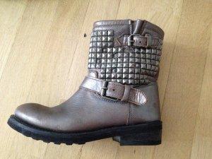 ASH Biker Boots grey leather