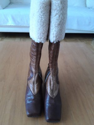 Baldinini Fur Boots brown