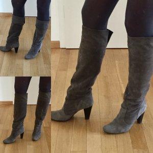 Heel Boots grey leather