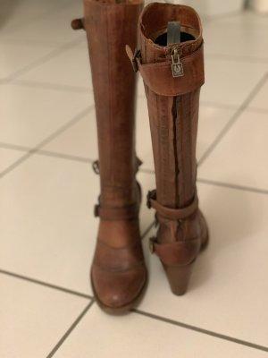 Belstaff Heel Boots cognac-coloured leather
