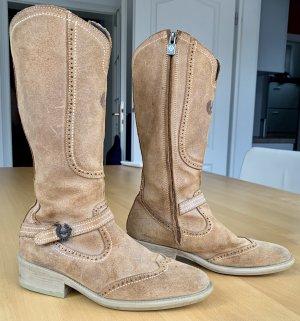 Stiefel von Belstaff, braunes Leder, Größe 36, neuwertig