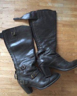 Belstaff Botas con tacón marrón oscuro