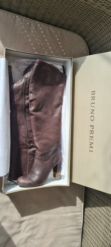 Bruno Premi Heel Boots dark brown leather