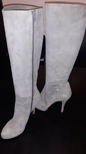 Buffalo London High Heel Boots silver-colored leather