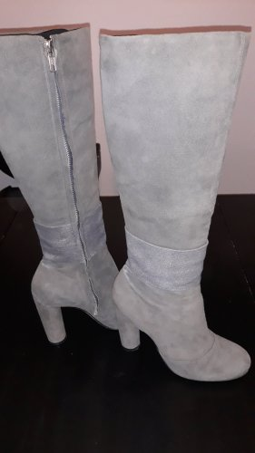 Buffalo High Heel Boots grey leather