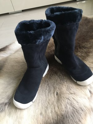 Clarks Fur Boots dark blue