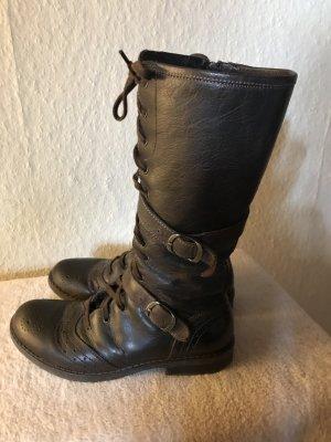 Stiefel von der Marke Leppi, Gr. 36 in dunkelbraun