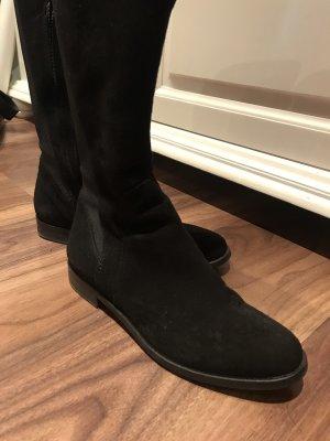 Botas elásticas negro Cuero
